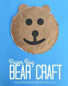 0f09fb40417 Paper bag bear kid craft great hibernation craft