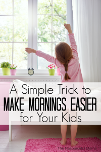 This one simple trick to your nighttime routine will make mornings with you kids much easier and get them to school on time.