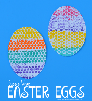 Bubble Wrap Easter Egg Kid Craft (Easter Link Party)