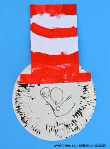 Dr. Seuss The Cat in the Hat craft project for kids