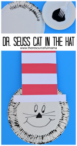 Dr. Seuss The Cat in the Hat paper plate and fork painting craft project for  sc 1 st  The Resourceful Mama & Paper Plate Dr Seuss Cat in the Hat Craft - The Resourceful Mama