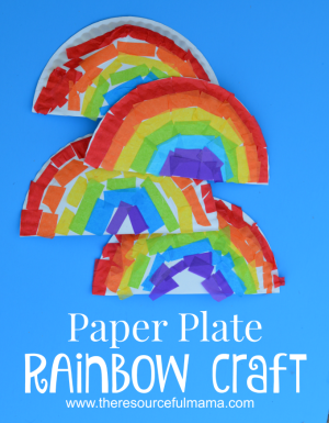 rainbow paper craft paper plate rainbow craft the resourceful 2809