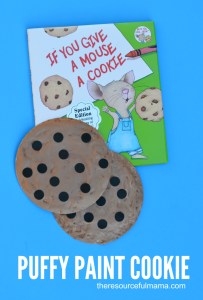 Cookie craft inspired by If you Give a Mouse A Cookie book