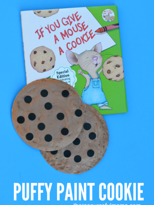 Puffy Paint Cookie Craft (When You Give a Mouse a Cookie)