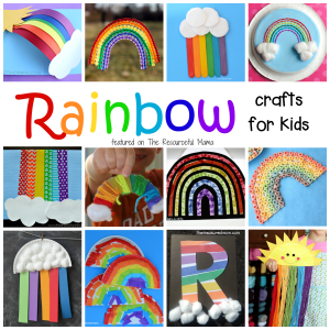 Lots of great rainbow crafts that kids can make for spring, summer, St. Patrick's Day or letter R.