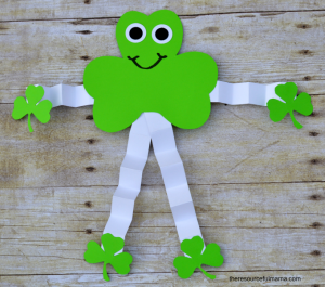 St. Patrick's Day Shamrock man kid craft