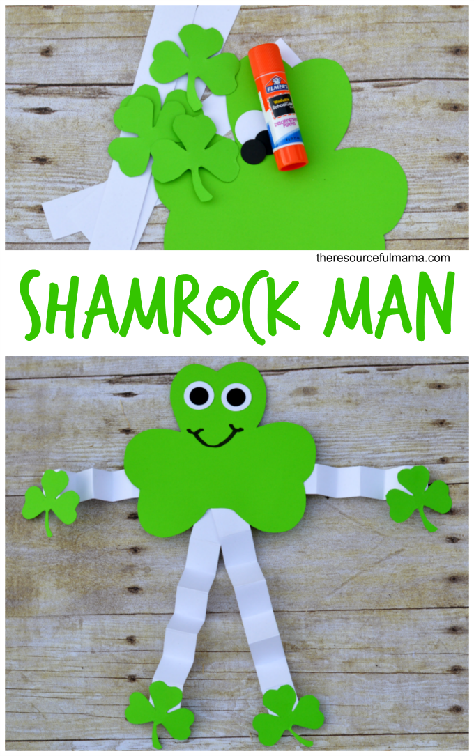 St. Patrick's Day Shamrock Man Craft - The Resourceful Mama