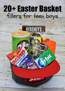 Teen boy easter basket and 20 ideas for fillers 20 easter basket fillers for teen boys negle Image collections