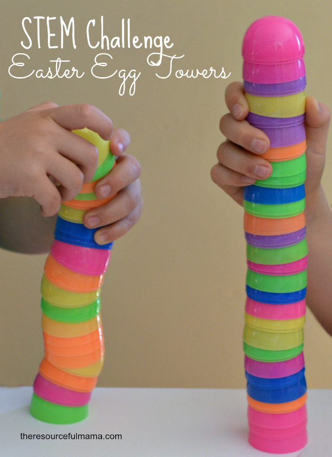 STEM Challenge Egg Towers Activity