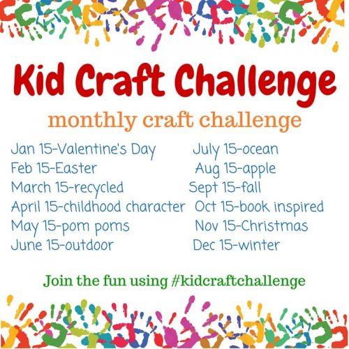 Monthly Kid Craft Challenges