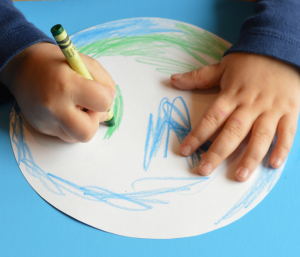 coloring earth day craft
