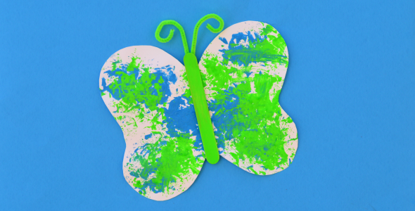 Sponge Painted Butterfly Craft For Kids The Resourceful Mama