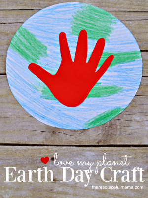 Love My Planet Earth Day Craft