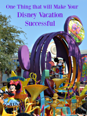 The One Thing that Will Make Your Disney Vacation Successful