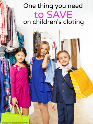 One Thing You Need to Save On Children's Clothing