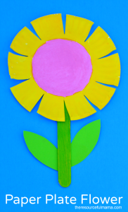 This paper plate flower craft is a great spring and summer craft for kids. It  sc 1 st  The Resourceful Mama : paper plate flower craft - pezcame.com
