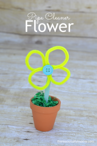 This pipe cleaner flower is a fun and colorful flower craft for kids and a great kid made Mother's Day gift.