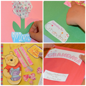 Set up a card making station and invite kids to make homemade Mother's Day cards.