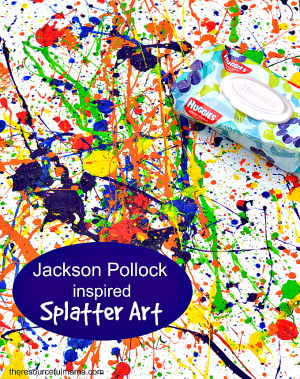 Jackson Pollock Inspired Art Project
