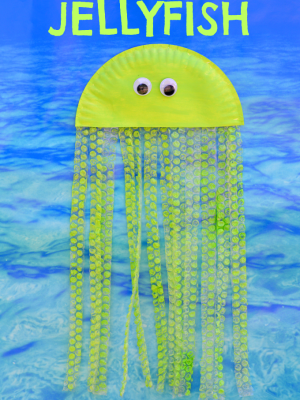 Bubble Wrap & Paper Plate Jellyfish Craft