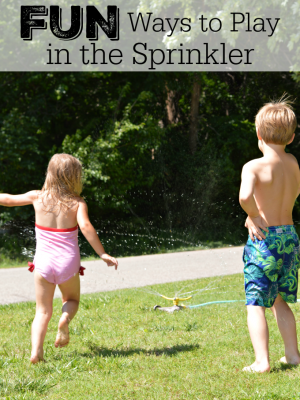 Fun Ways to Play in the Sprinkler {Amazon Gift Card Giveaway}