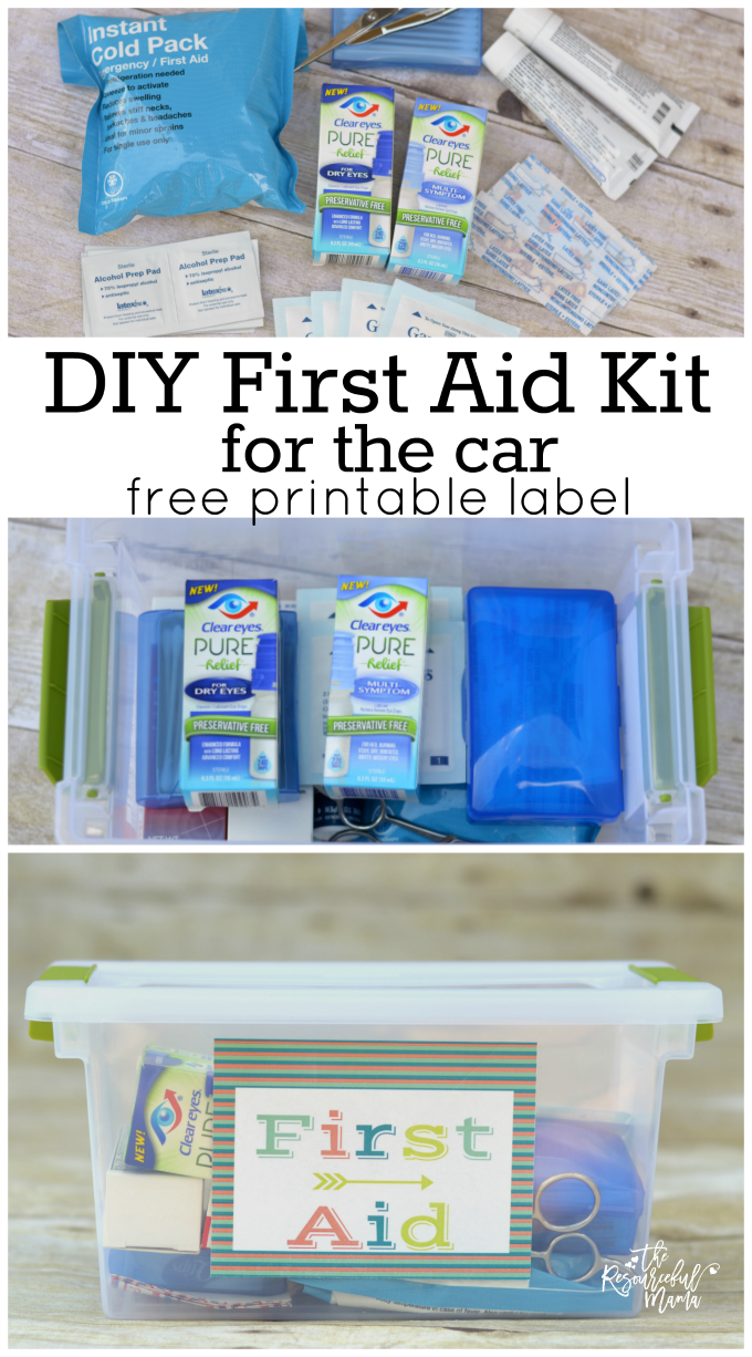 Diy First Aid Kit For The Car The Resourceful Mama
