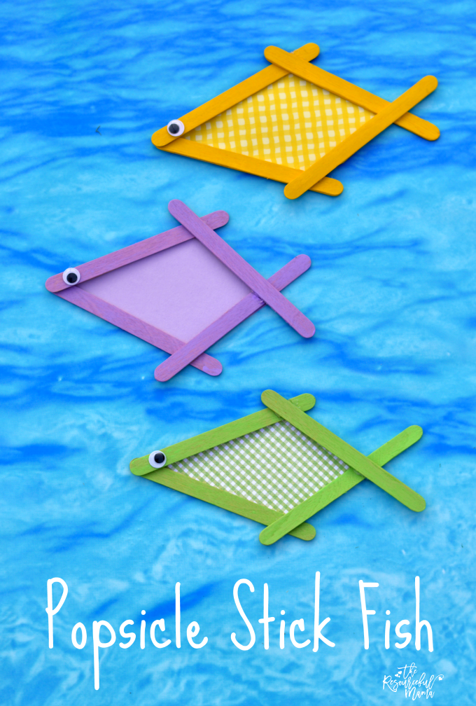 This colorful popsicle stick fish craft is a great summertime craft project for kids.