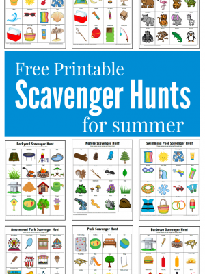 Summer Scavenger Hunts {Free Printables}