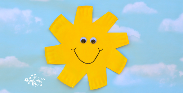 Paper Plate Sun Craft The Resourceful Mama