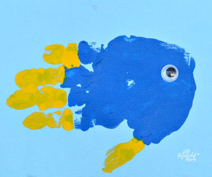 Finding dory handprint craft for Picture of dory fish