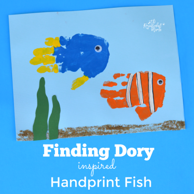 Finding Dory Inspired Handprint Fish