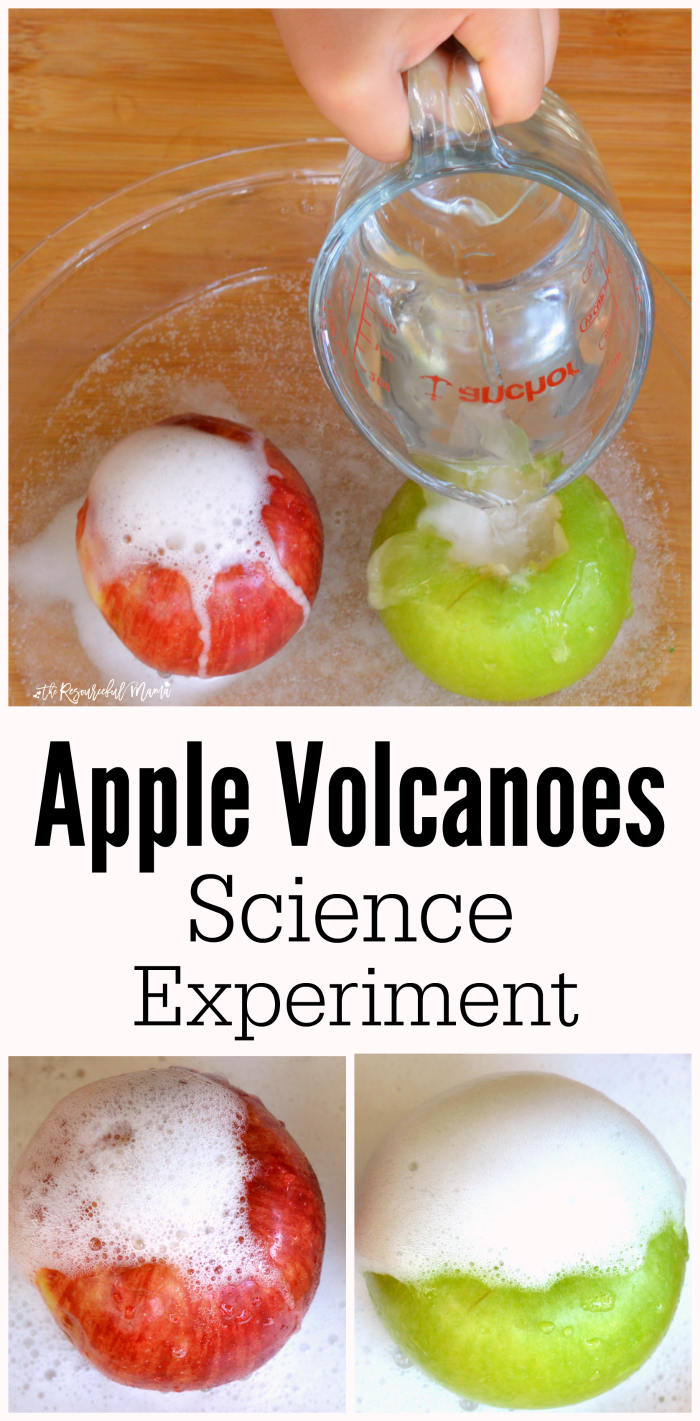 Apple Volcanoes Science Experiment The Resourceful Mama