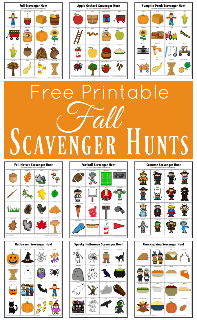 image regarding Printable Scavenger Hunt referred to as Drop Scavenger Hunts No cost Printable - The Creative Mama