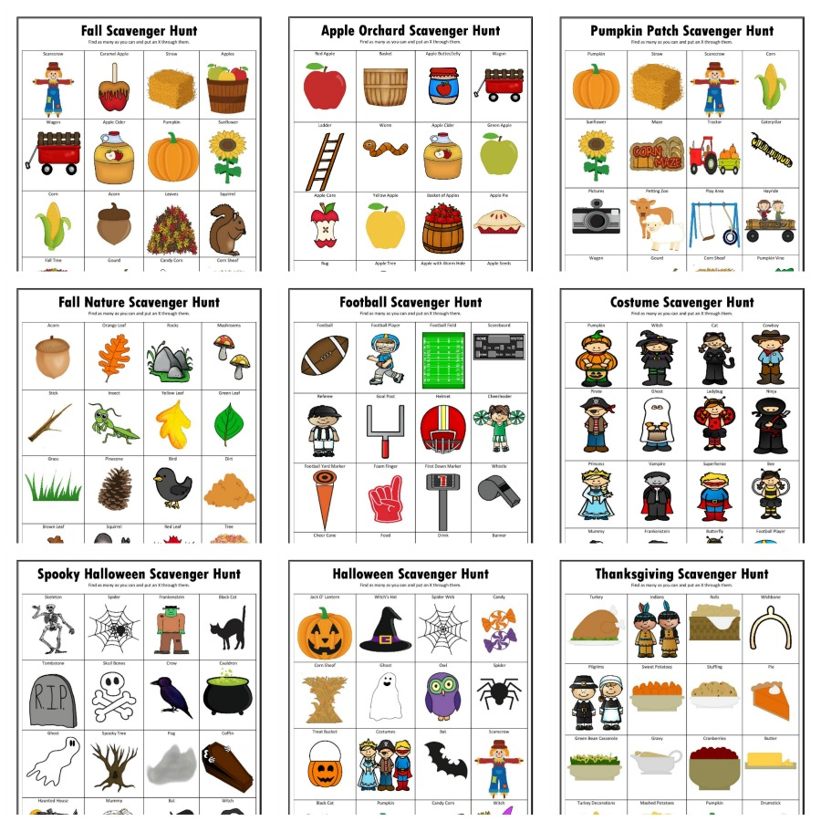photo relating to Fall Scavenger Hunt Printable named Drop Scavenger Hunts Totally free Printable - The Artistic Mama