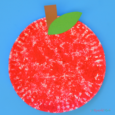 Sponge Painted Apple Craft for Kids