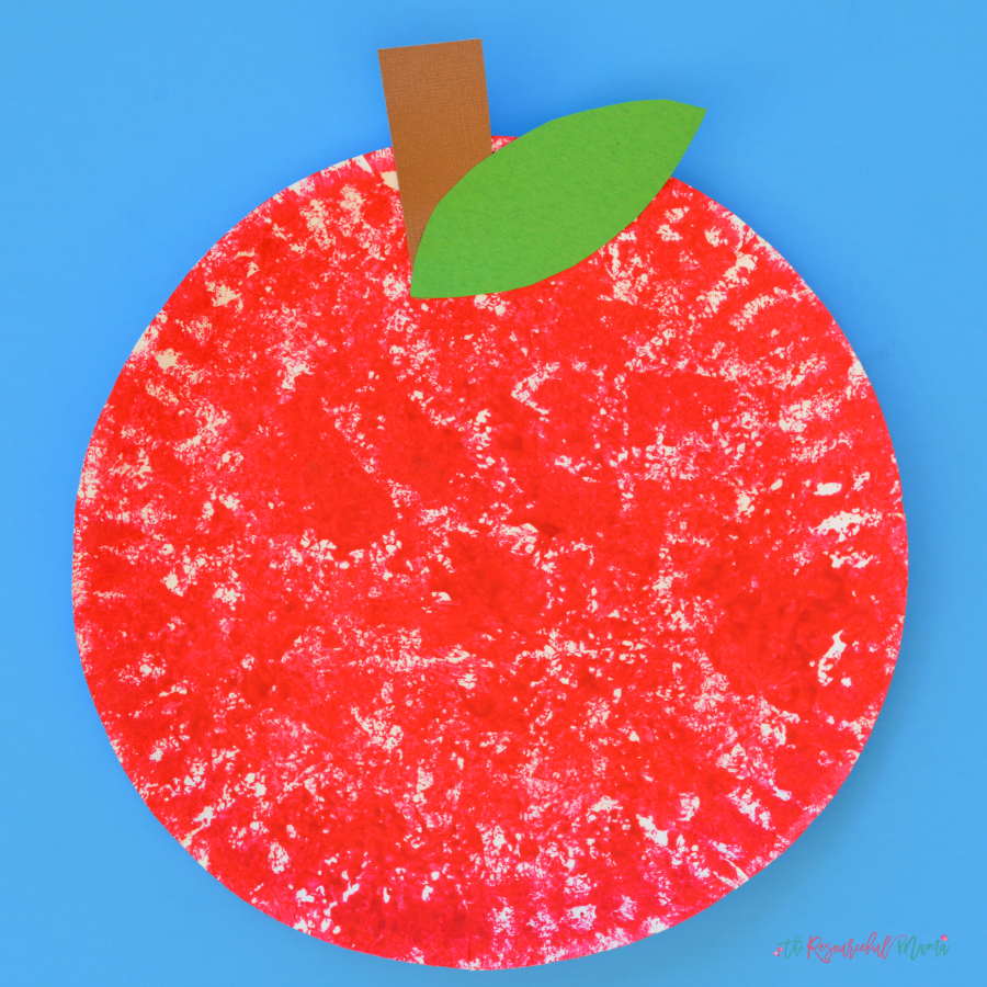 Sponge Painted Apple Craft For Kids The Resourceful Mama