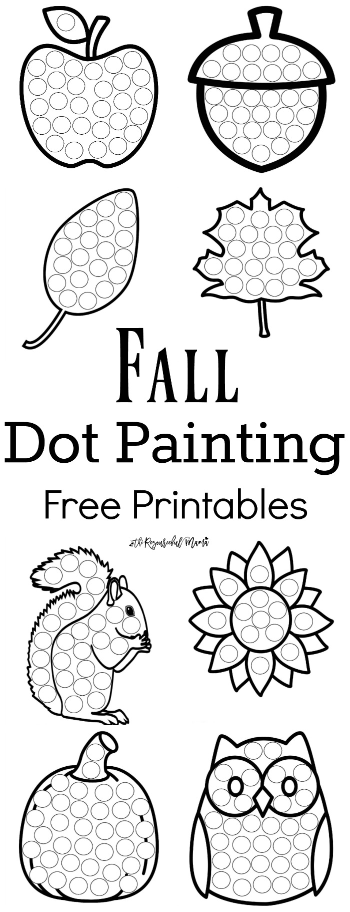 worksheet Fall Worksheets For Preschool fall dot painting free printables the resourceful mama these worksheets are a fun mess activity for young kids that