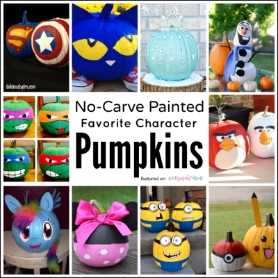 10 Painted No-Carve Pumpkins of Kids' Favorite Characters