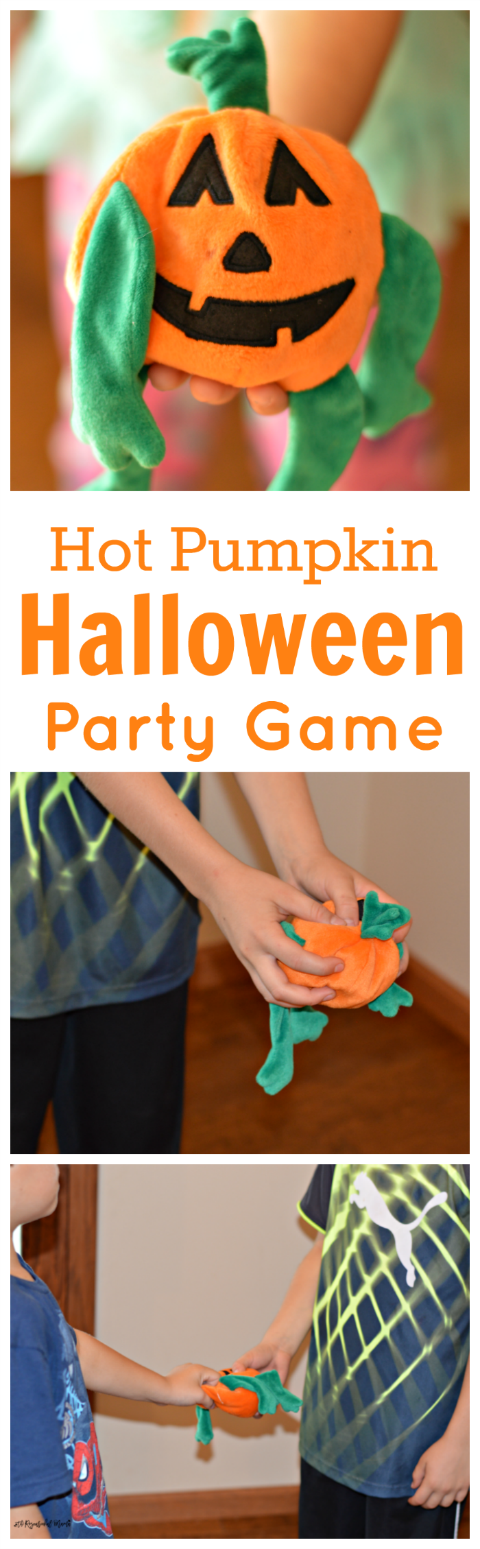 Super fun Halloween party game great for school classroom parties! pumpkin | kids games | party game | Halloween