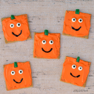 Spookley the Square Pumpkin Inspired Pumpkin Snacks