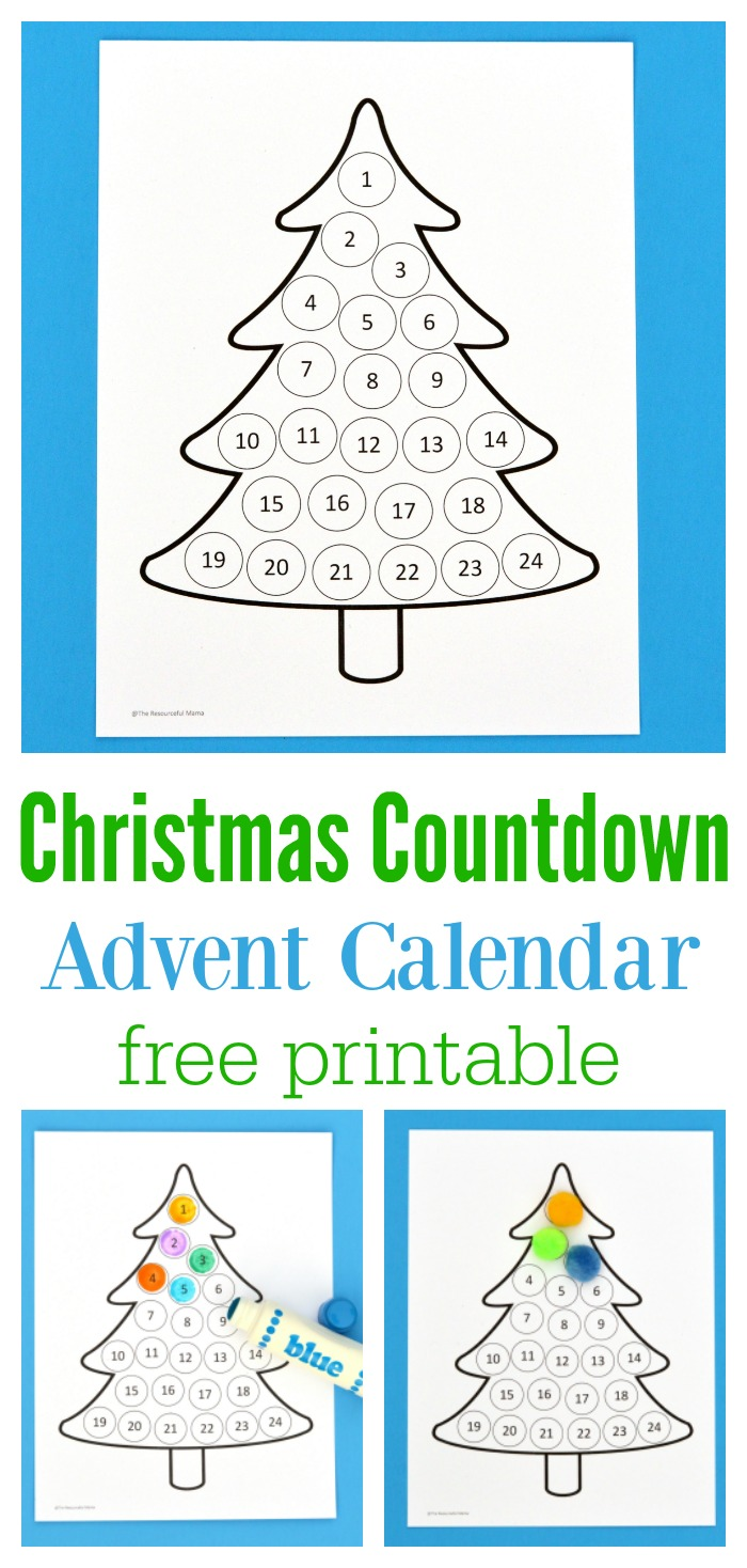 photo about Printable Christmas Countdown named Xmas Countdown Introduction Calendar - The Artistic Mama