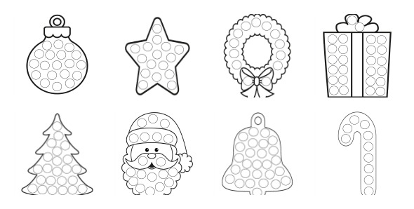 More Christmas Dot Painting {Free Printables} - The Resourceful Mama