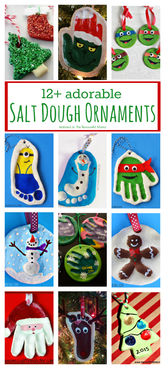 12+ Adorable Salt Dough Ornaments - The Resourceful Mama