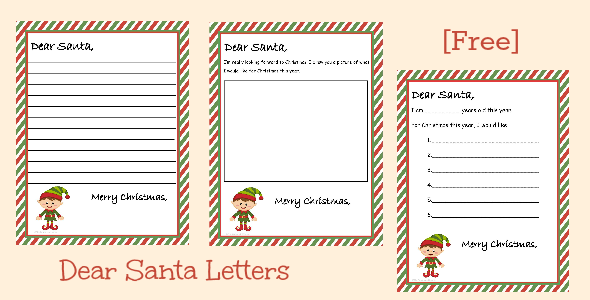 Free Printable Dear Santa Letter 3 Different Versions