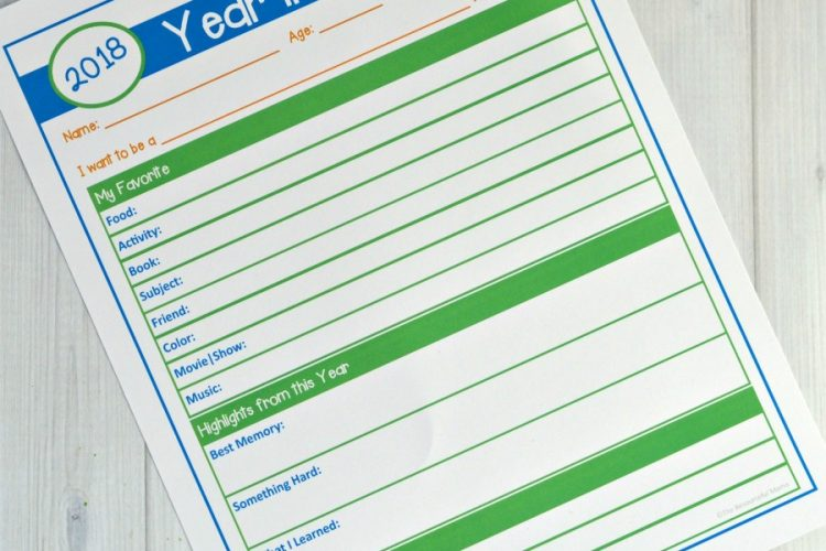 Year in Review Questionnaire {Free Printable}