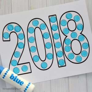 this dot painting activity is a fun way to involve kids in the new year festivities