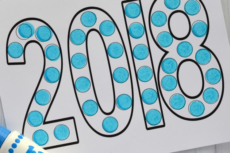 Dot Painting New Year's Activity for Kids