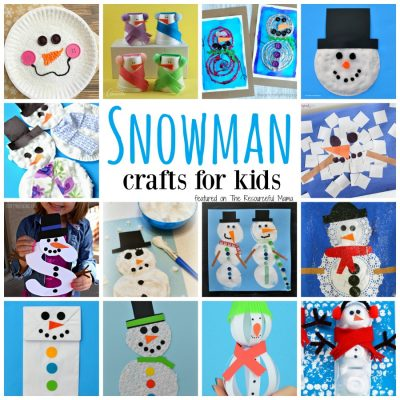 23 Fun & Cute Snowman Crafts for Kids