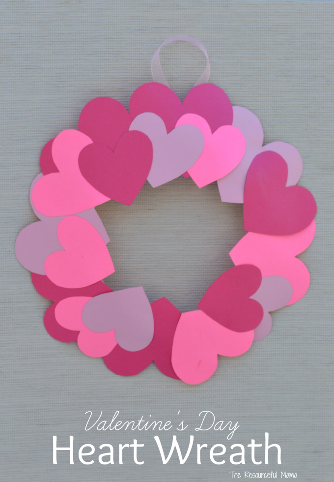 Paper Plate Valentine S Day Heart Wreath Craft The Resourceful Mama