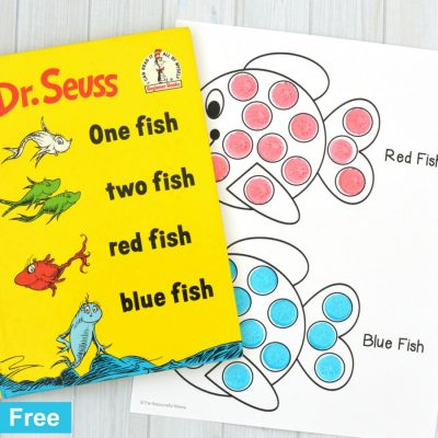 Red Fish Blue Fish Dot Painting Activity